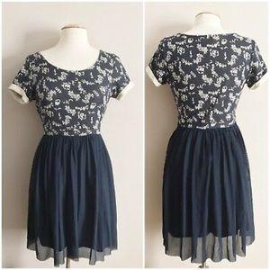 Anthropologie Everleigh Veris Tulle Dress Size M